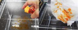 ナノファイバーを応用した油吸着シート製造装置・リユース可能脱油装置(一式)_写真