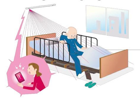 非接触・無拘束ベッド見守りシステム「OWLSIGHT 福祉用」_写真