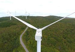 大型風力発電機ブレード 点検ロボット写真1