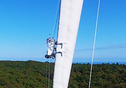 大型風力発電機ブレード 点検ロボット写真2