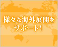 様々な海外展開をサポート