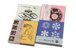 紋切り型 四季セット 花、風、月、雪