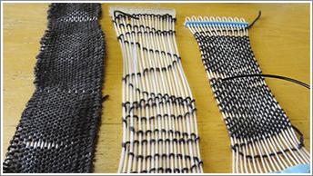 めぐみさんが作成した織布のサンプル